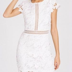 Main Strip White Lace Dress LIKE NEW